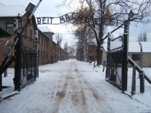 The gates to the Auschwitz-Birkenau concentration camp in Poland. Photo: Wikimedia Commons.